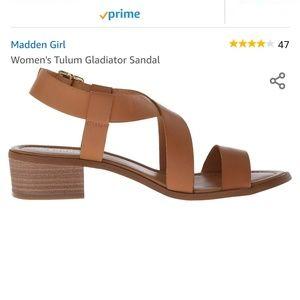Madden Girl Tulum Gladiator Sandal in Cognac